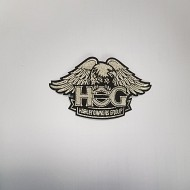 H.O.G Patch In Silver - SMALL