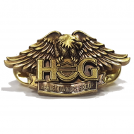 Brass H.O.G. Eagle Pin