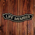 Fitted; 'LIFE MEMBER' Patch in Tan - LARGE