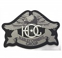Heritage: Eagle Patch In Silver - LARGE