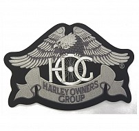 HERITAGE: Eagle Patch in Silver-Large