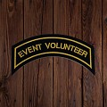EVENT VOLUNTEER Patch In New Gold