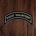 EVENT VOLUNTEER Patch In Heritage Tan