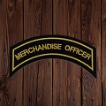 MERCHANDISE OFFICER Patch In New Gold