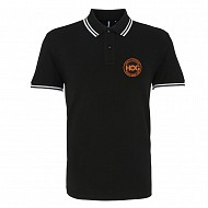 H.O.G Polo In Black/White