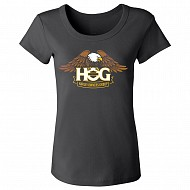 Ladies H.O.G. Eagle T-shirt in Black