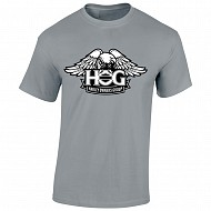 Unisex H.O.G. Eagle T-shirt in Graphite Heather