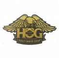 H.O.G. Eagle Patch in Gold-Large