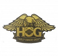 H.O.G. Eagle Patch in Gold - LARGE