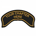 Chapter Rocker Patch In Gold - LARGE