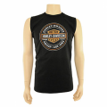 Oil Can Vest In Black