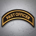 PAST OFFICER Patch Gold