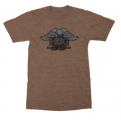 NEW: Unisex H.O.G. 35 Crew Neck T-Shirt in Heather Brown