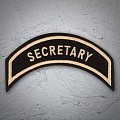 SECRETARY Patch In Heritage Tan