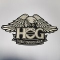 H.O.G. Eagle Patch In Silver - LARGE