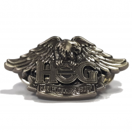 Antique Silver H.O.G. Pin