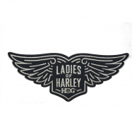 LOH Wings Patch in Silver-Large