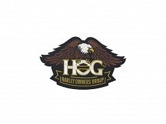 H.O.G. Eagle Patch In Brown - SMALL