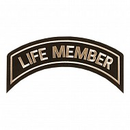 Life Member Patch In Heritage Tan- LARGE