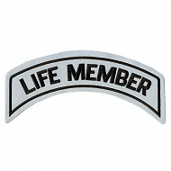 Life Member Patch In Reflective - LARGE