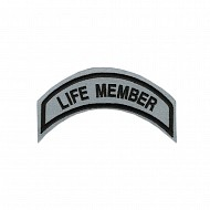 Life Member Patch In Reflective- SMALL
