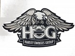 H.O.G. Eagle Patch - Small SILVER SMALL