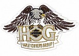 H.O.G. Eagle Reflective Patch Brown - SMALL
