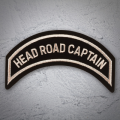 'HEAD ROAD CAPTAIN' Chapter Officer Patch in Heritage Tan