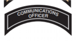 COMMUNICATIONS OFFICER Patch In Silver