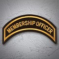 MEMBERSHIP OFFICER Patch In New Gold