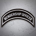 MEMBERSHIP OFFICER Patch In Silver