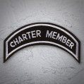 CHARTER MEMBER Patch In Silver