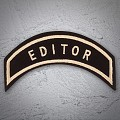 'EDITOR' Chapter Officer Patch in Heritage Tan