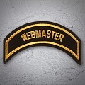 WEBMASTER Patch In New Gold