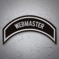 WEBMASTER Patch In Silver