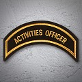 ACTIVITIES OFFICER Patch Sliver Gold