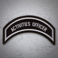ACTIVITIES OFFICER Patch Sliver Silver