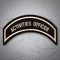 ACTIVITIES OFFICER Patch Sliver Tan