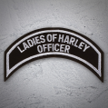 LADIES OF HARLEY OFFICER Patch In Silver