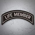 Life Member Patch In Silver - LARGE