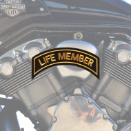 Life Member Patch In Gold - SMALL