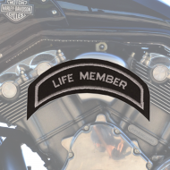 Life Member Patch in Silver - SMALL
