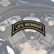 Life Member Patch In Heritage Tan - SMALL