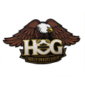H.O.G. Patch Brown Large
