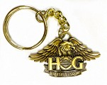 H.O.G. Eagle Keyring In Antique Brass