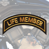 Life Member Patch In Gold - LARGE
