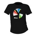 Rainbow Y Unisex Black T-Shirt