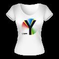 Rainbow Y Ladies White T-Shirt