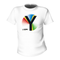Rainbow Y White T-Shirt
