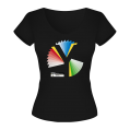 Rainbow  Y Ladies Black T-Shirt